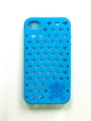 Skulluminous iphone 4 case (Blue)