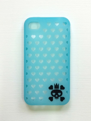 Skulluminous iphone 4 case (Glow in Dark)
