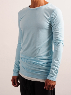 Long Sleeves Tee (Blue + White Package)