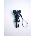 Reborn Bear Phone Strap(Black)