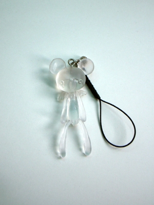 Reborn Bear Phone Strap(Transparent)
