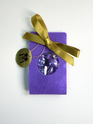 Reborn Bear Phone Strap(Purple)