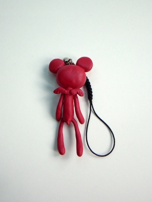 Reborn Bear Phone Strap(Red)