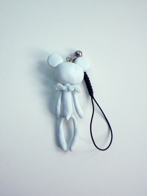 Reborn Bear Phone Strap(White)